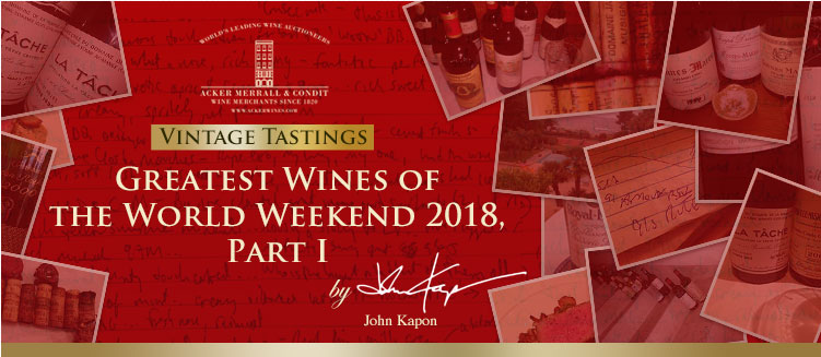 Greatest Wines of the World Weekend 2018, Part I