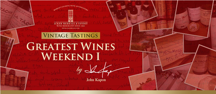 Greatest Wines Weekend I