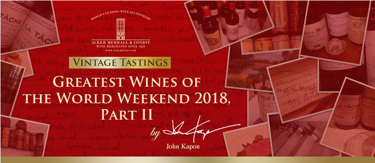 Greatest Wines of the World Weekend 2018, Part II