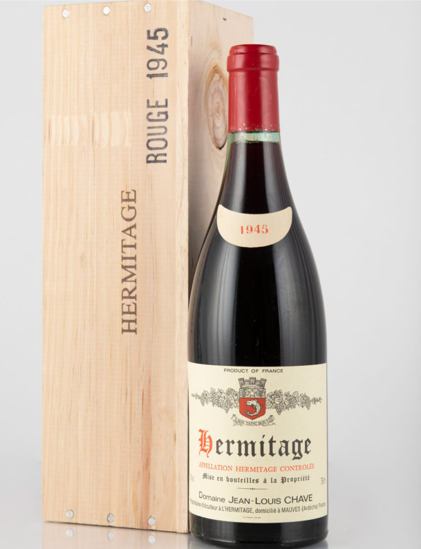Lot 645: 1 bottle 1945 J.L. Chave Hermitage in OWC
