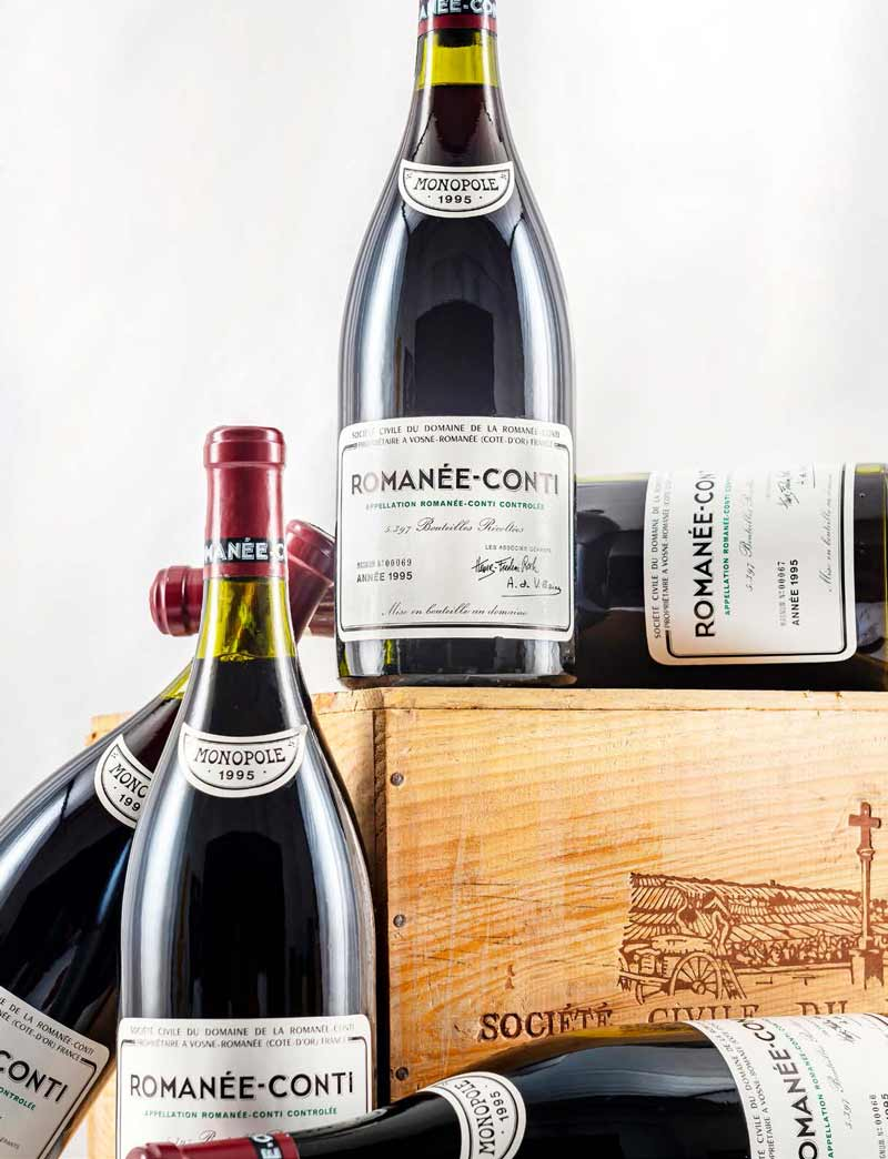 6 magnums 1995 DRC Romanee Conti in OWC (Lot 227)