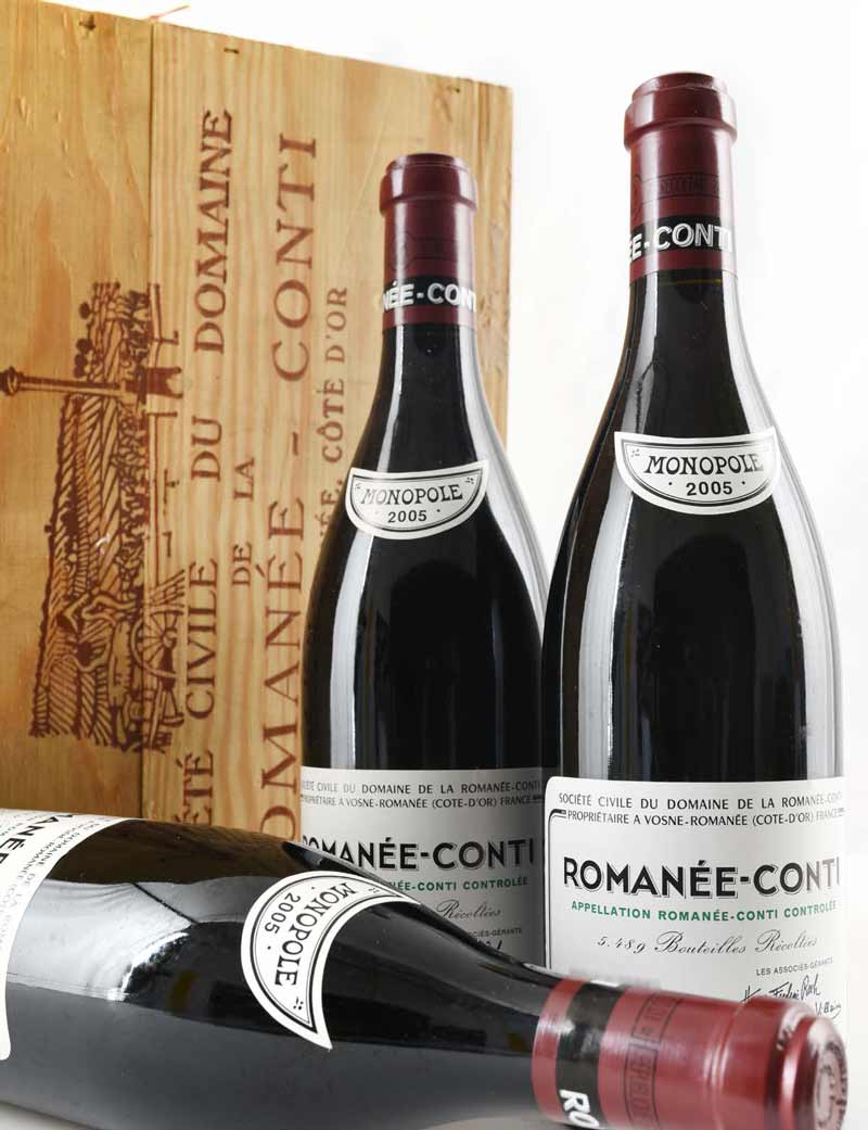 3 bottles 2005 DRC Romanee Conti in OWCs (Lots 846-848)