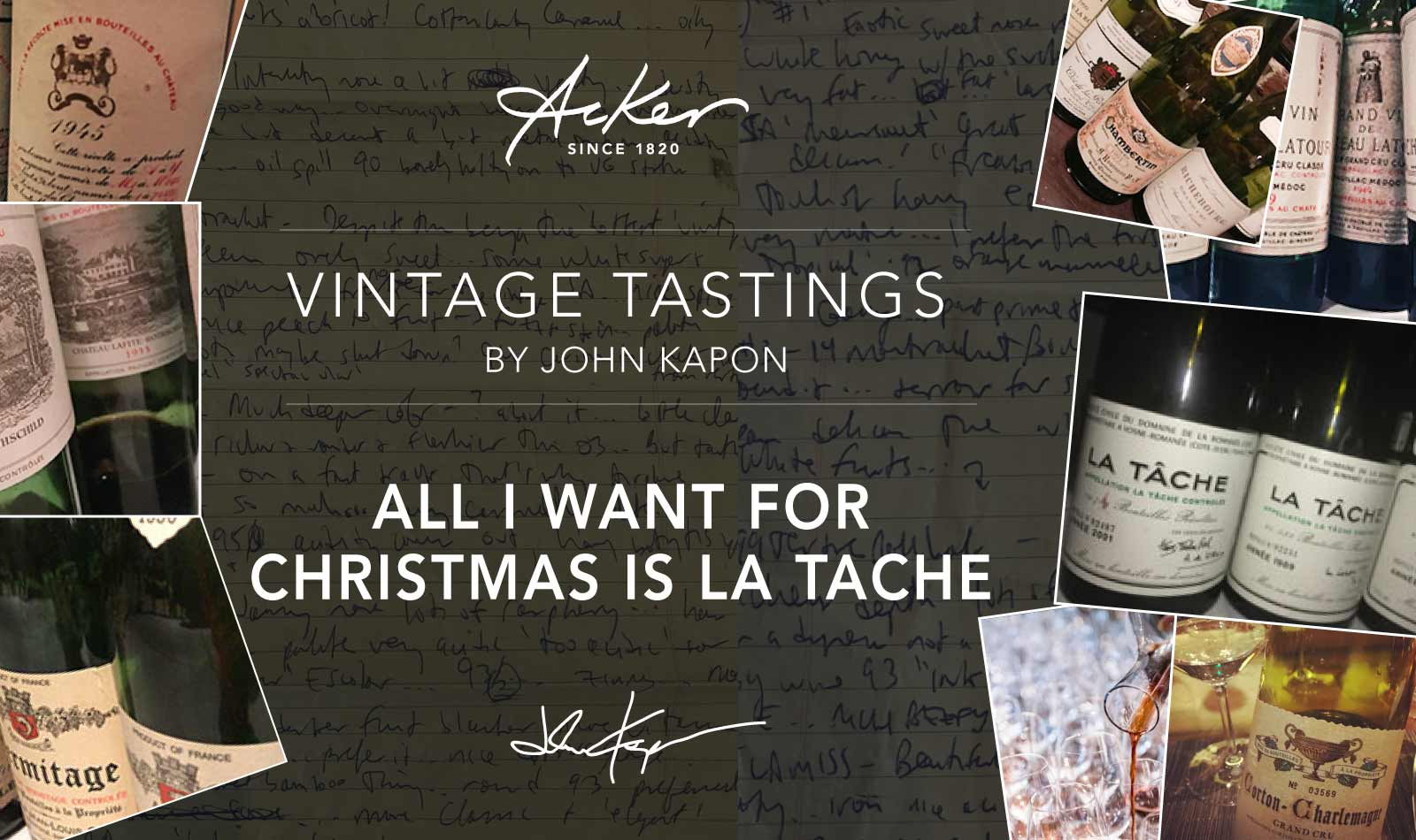 All I Want for Christmas is La Tache